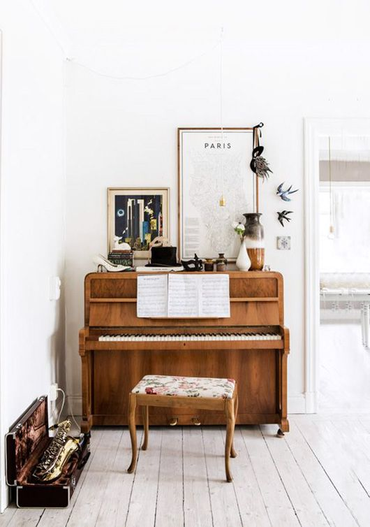 Vintage Piano Home Decor